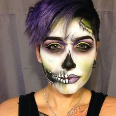Get The Halloween Look: How To Create Spooky Skull Makeup Tutorial : BEAUTY : Beauty World News