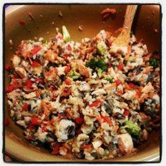 Nasi Goreng (fried rice) very tasty gluten free, dairy free, vegan option
