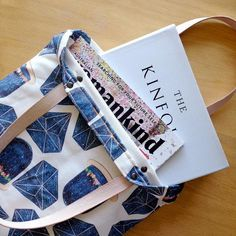 A tote for lovers of denim and diamonds. #etsy