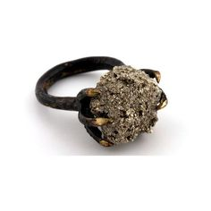 Fool's gold claw ring