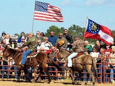 The Mule Show at the Calvary Mule Festival in Calvary, Ga.