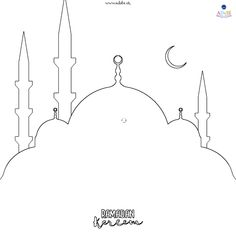 Colouring pages - ADaBi Islamic books & gifts for kids Ramadan Activities, Ramadan Crafts, Holy Quran Book, Poster Ramadhan, Islam For Kids, Free Printable Coloring Pages, Colouring Pages, Book Gifts, Mandala Design