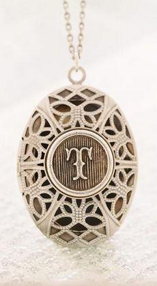 Vintage inspired monogram locket