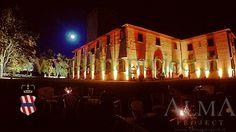 ALMA PROJECT @ Villa Corsini - façade - led amber - uplights amber - english garden