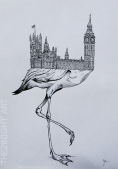 Big Ben & Flamingo