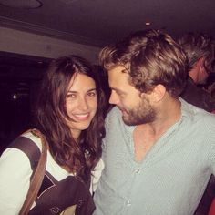 """""""I was smitten from the start, I really was.....I'm more in love with her today than I was then.""""  Jamie Dornan talking about his wife, Amelia Warner, Feb.2015. Instagram photo by @dulciedornan (dulciedornan) 