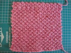 "Fun and easy textured knitting stitch pattern: ""trinity stitch""  Stuff and Nonsense: Yahoo!!!"