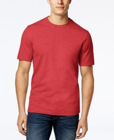 Club Room Men's Crew-Neck Tee Shirt, Only at Macy's - Red XXXL