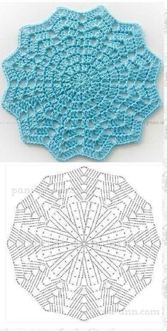 Today we have one more very special crochet project for you and one more crochet tutorial for this amazing doily. Crochet doilies are just wonderful for adding a Th Ripple crochet mandala in many colors Crochet Coaster Pattern, Crochet Potholder Patterns, Crochet Diagram, Freeform Crochet, Crochet Chart, Crochet Motif, Diy Crochet, Knitting Patterns, Crochet Cushions