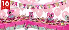 Minnie Mouse Party Supplies Deluxe Party Kit - Girls Party Themes - Girls Birthday - Birthday Party Supplies - Categories - Party City