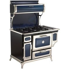 Heartland 48 Free Standing Dual Fuel Range Color Cobalt Stove Fireplace Gas