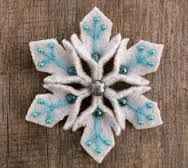 Image result for felt snowflake