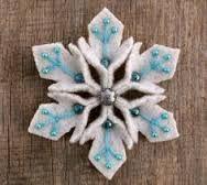 Image result for felt snowflake