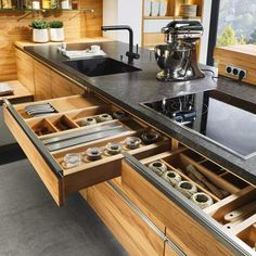 Modern Kitchen Cabinets Denver, CO by German Kitchen Center. Our expert kitchen designers will bring your dream kitchen to reality, with stunning results. Kitchen Room Design, Kitchen Cabinet Design, Modern Kitchen Design, Living Room Kitchen, Interior Design Kitchen, Kitchen Designs, European Kitchens, Luxury Kitchens, Home Kitchens