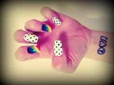 Set of Artificial Nails  Follow the Rainbow by NailedItByShannon, $10.00