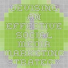 Devising An Effective Social Media Marketing Strategy
