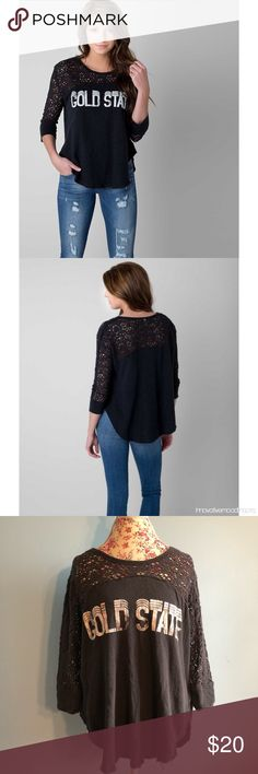 Free People Gold State Crochet Top large Gently worn. In good condition, no flaws or damages. Free People Tops Blouses