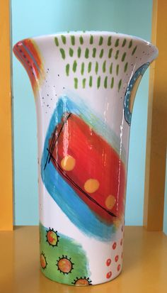 My new paint your own pottery vase.