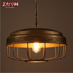 Retro Design Industrial Chic Pendant Lights, 45*28cm, Old Fashioned Lamps for Commerce and Residential Space #Affiliate