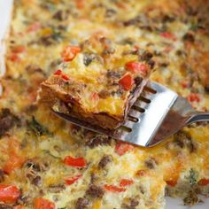 Never Fail Sausage and Egg Casserole is an easy make-ahead dish that is easy to put together and serves a crowd. Overnight Breakfast Casserole, Egg Casserole, How To Make Sausage, Sausage And Egg, Gluten Free Recipes, Cravings, Eggs, Stuffed Peppers, Cooking