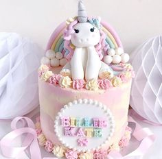 trendy ideas for birthday cake unicorn galleries Unicorn Themed Birthday, Themed Birthday Cakes, Themed Cakes, Fondant Cakes, Cupcake Cakes, Cupcakes, Cloud Cake, Mum Birthday Gift, Butterfly Cakes