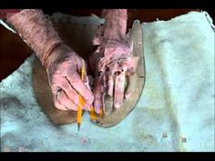 Making Woodland Indian Centre Seam moccasins Part 3. DVD.