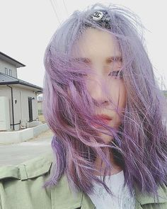 WEBSTA @ kurechan914 - 😐💜#パープル#マニックパニック #マニパニ#manicpanic Dreadlocks, Long Hair Styles, Spring, Beauty, Instagram, Beleza, Dreads, Long Hair Hairdos, Cosmetology