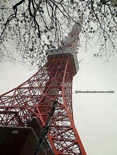 Tokyo Tower on a rainy afternoon :) Still gorg.