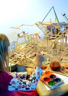 Filth Wizardry: Open ended sculpture fun with glue and sticks
