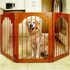 """Features: - 36"""" High x 78"""" Long - Are ideal for keeping your pets confined, while still keeping your home elegant - Built with solid-wood and triple hinge construction - Are both durable and versatile"""