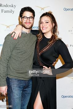 Actor Darren Criss and Mia Swier attend Operation Smile's Celebrity Ski Smile Challenge Presented by the Rodosky Family on March 11 2017 in Park City...