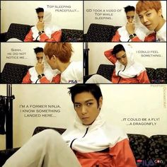Hahahahah TOP is freaking amazing!! ><
