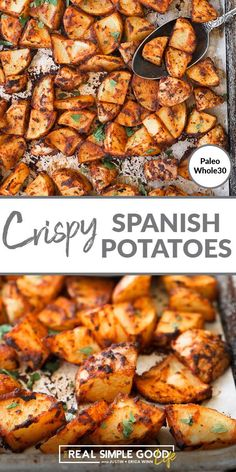 Oven Roasted Potatoes, Potatoes In Oven, Baked Potato Oven, Paleo Side Dishes, Side Dishes Easy, Side Dish Recipes, Healthy Dinner Recipes, Cooking Recipes, Paleo Recipes
