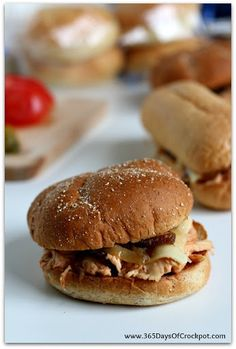 Slow Cooker Cream Cheese Chicken Sandwiches Recipe on Yummly