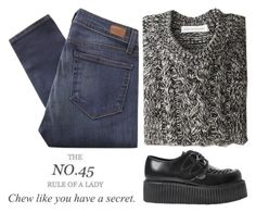 """""""The No. 45 Rule Of A Lady: Chew Like You Have A Secret"""" by raelee-xoxo ❤ liked on Polyvore featuring Paige Denim, Étoile Isabel Marant, Underground, raeleespenguin and TalisLittleTag"""