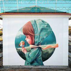 Making friends - Creative #Streetart by YASH - be artist be art(Oct-2016) ♥♥
