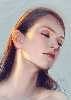 Ideas For Digital Art Girl Drawing Digital Art Girl, Digital Portrait, Portrait Art, Digital Painting Tutorials, Digital Art Tutorial, Concept Art Tutorial, Portrait Illustration, Pretty Art, Anime Art Girl