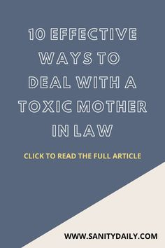 Dealing with a toxic mother in law #toxicmotherinlaw Mother In Law, Reading, Reading Books