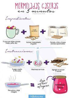 Mermelada casera. Tip: para hacerla más sana puede omitir el azúcar, en todo caso agregue azúcar crudo con moderación, o bien, algún sustituto de la misma.