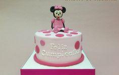 TARTA MINNIE MOUSE ROSA HADAS DE AZUCAR GUADALAJARA / PINK MINNIE MOUSE FONDANT CAKE
