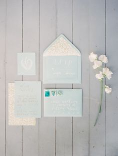 Mint blue wedding stationery | Photography: When He Found Her - whenhefoundher.com/ Read More: http://www.stylemepretty.com/2014/08/07/natural-spring-wedding-inspiration/