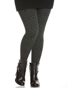 """YAS"" I would wear this.......  Jacquard patterned legging 