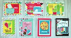 The newest collection by Doodlebug Designs ~ So Punny is just too cute! I could not wait to play and make some cards! I cut out the . Doodle Designs, Cricut Cards, Some Cards, Card Sketches, Card Kit, Valentine Day Cards, Scrapbook Cards, Homemade Cards, Making Ideas