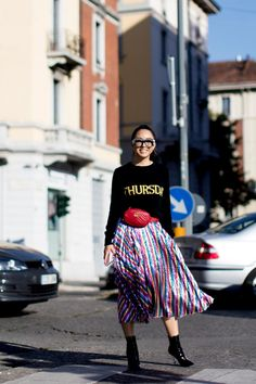 On the street at Milan Fashion Week. Photo  Imaxtree Milan Fashion Week  Street Style cb7327827ee