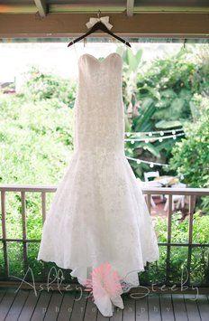 Mori Lee By Madeline Gardner 1862 Alencon Lace Mermaid Wedding Dress $750
