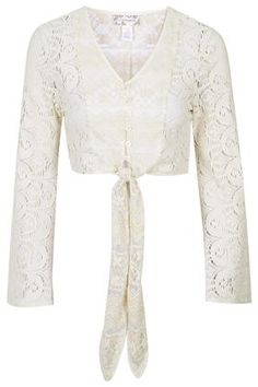 Lace Tie Front Blouse by Band of Gypsies