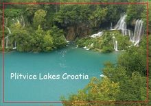 Decoration Gift Photo Magnets  Plitvice Lakes National Park Croatia Travel Magnets 20535 Rectangle 78*54*3mm(China (Mainland))
