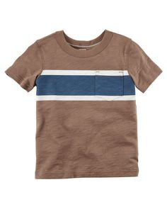 Toddler Boy Striped Pocket Tee from Carters.com. Shop clothing & accessories from a trusted name in kids, toddlers, and baby clothes.
