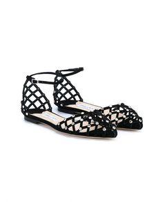 387028da863 JIMMY CHOO Davinia Flat Suede Sandals Black Ballet Shoes