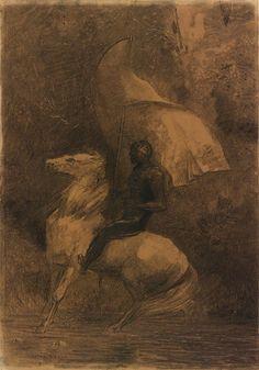 Odilon Redon   Cavalier   The Morgan Library & Museum
